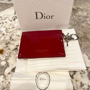 AUTHENTIC Lady Dior Flat Card Holder